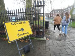 The number of people testing positive for Covid-19 in England has reached a new record high (Yui Mok/PA)