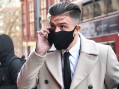 Aston Villa captain Jack Grealish, arrives at Birmingham Magistrates' Court. (Jacob King/PA)