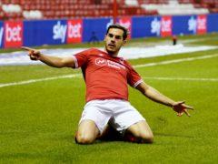 Yuri Ribeiro celebrates opening the scoring (Zac Goodwin/PA)