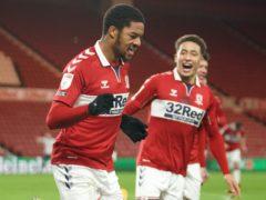 Chuba Akpom celebrates scoring the winning goal (Owen Humphreys/PA)