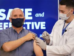 Vice President Mike Pence received a Pfizer/BioNTech Covid-19 vaccine shot live on TV (Andrew Harnik)