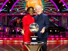 Oti Mabuse and Bill Bailey are in the final of Strictly Come Dancing (PA)