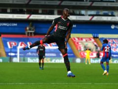 Sadio Mane scored his first goal in 10 matches at Crystal Palace (Clive Rose/PA)