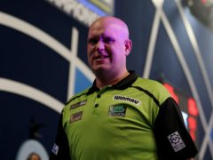 Michael Van Gerwen impressed in his first match at the 2021 William Hill World Darts Championship (Steven Paston/PA)