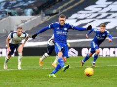 Jamie Vardy scored Leicester's opener (Andy Rain/PA)