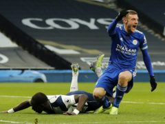 Jamie Vardy came off in the win at Tottenham (Frank Augstein/PA)