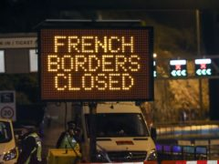 France appears set to end a ban on hauliers crossing the Channel which was imposed due to fears about the spread of the new coronavirus strain (Steve Parsons/PA)