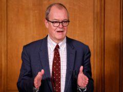 Chief scientific adviser Sir Patrick Vallance during a media briefing in Downing Street, London, on Covid-19 (Tolga Akmen/PA)