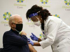 President-elect Joe Biden receives his first dose of the coronavirus vaccine (Carolyn Kaster/AP)
