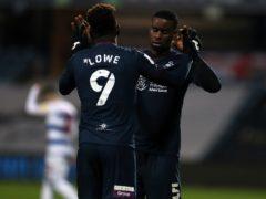 Jamal Lowe celebrates scoring Swansea's second goal (Bradley Collyer/PA)