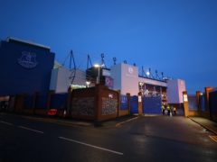 Manchester City's match at Goodison Park on Monday night was postponed (Peter Byrne/PA).