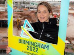 Kelly Sotherton at the site of the Alexander Stadium (Shaun Fellows/Shine Pix Ltd)