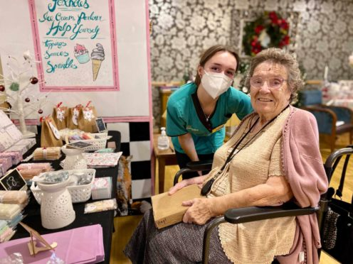 """Residents of Foxholes Care Home were """"delighted"""" by the indoor fair (Foxholes Care Home)"""