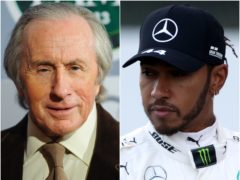 Sir Jackie Stewart, left, sent a message to Lewis Hamilton after he was named BBC Sports Personality of the Year (Dominic Lipinski/David Davies/PA)