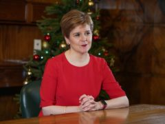 The First Minister paid tribute to health care workers in her message (SNP/PA)
