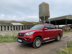 The Musso has proved adept as a farm vehicle