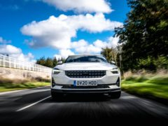 The Polestar's design gets heads turning
