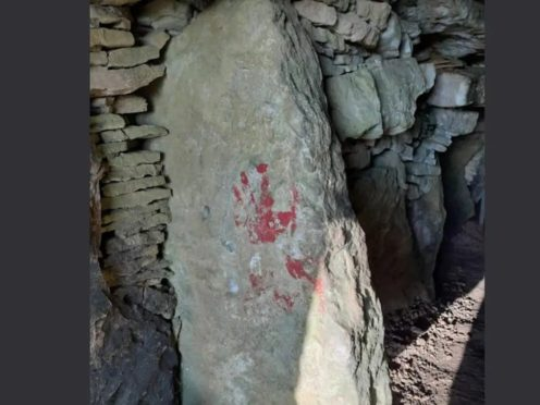Police investigate after graffiti daubed on Neolithic tomb (Avon and Somerset Police)