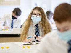 Teachers have raised concerns that masks are not being worn consistently in schools (Jane Barlow/PA)