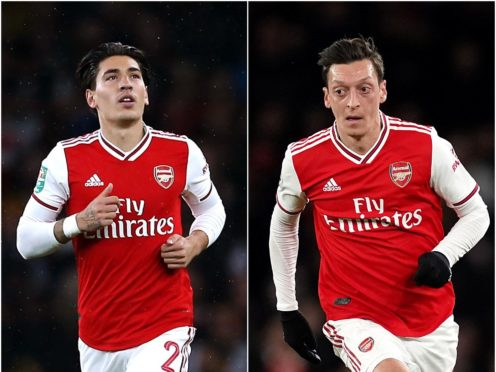 Could Hector Bellerin, left, and Mesut Ozil be on their way out of Arsenal? (Steve Paston/John Walton/PA)