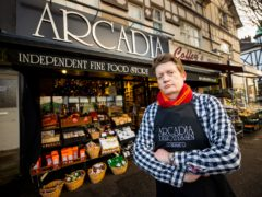 Mark Brown, of Arcadia Deli in Belfast, said he fears that, from April, he will no longer be able to offer as much choice for his customers (Liam McBurney/PA)