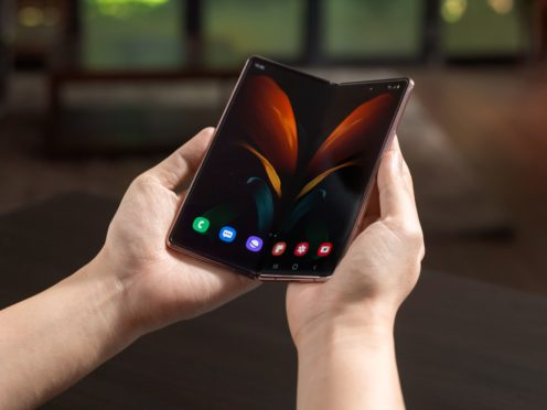 The Samsung Galaxy Z Fold 2 (Samsung/PA)