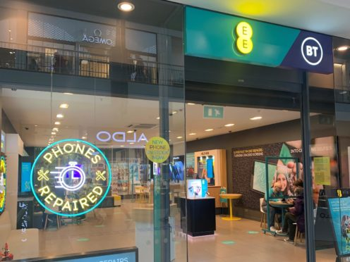 EE has launched a same-day smartphone repair service (BT/PA)