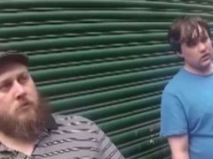 Murderers Nathan Maynard-Ellis and David Leesley caught on police bodycam as they are initially questioned by police (West Midlands Police/PA))