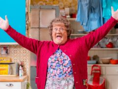 The cast of Mrs Brown's Boys tackled the pandemic in the show's latest Christmas special (BBC Studios/Alan Peebles/PA)