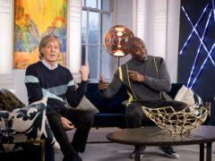Sir Paul McCartney and Idris Elba (BBC/SO Television/Guy Levy/PA)