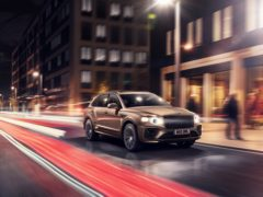 The new Bentayga Hybrid features a far sharper exterior than before