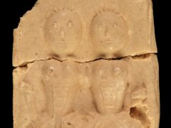 Biddenden Cakes were rectangular hard biscuits moulded with an image of Mary and Eliza Chulkhurst (Dominic Winter Auctioneers/PA)