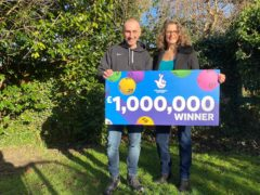 Malcolm and Rebecca Haines have been celebrating their £1 million Lotto win (Camelot/PA)