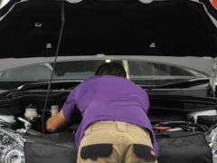 A trainee mechanic at World Skills London 2011 exhibition.