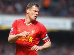 Former Liverpool defender Jamie Carragher is to sponsor Marine in their FA Cup tie against Tottenham (Peter Byrne/PA)