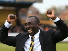 Jimmy Floyd Hasselbaink has returned to Burton (Stephen Pond/PA)