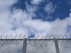 A general view of the fence at the decommissioned Cork prison in Cork city, Republic of Ireland. (Niall Carson/PA)