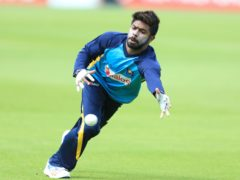 Sri Lanka's Niroshan Dickwella during a nets session at the Kia Oval, London.