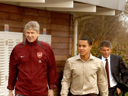 Theo Walcott played under Arsene Wenger during his whole time at Arsenal (John Stillwell/PA)