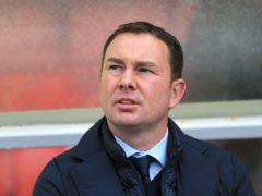 Morecambe manager Derek Adams (Nigel French/PA)