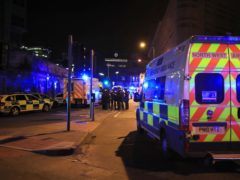 Emergency services at Manchester Arena after Salman Abedi's terror attack (Peter Byrne/PA)