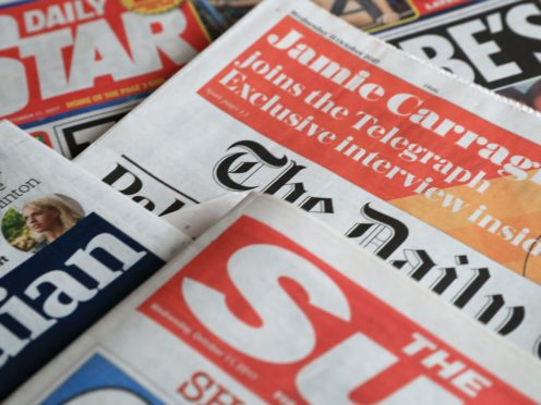 What the papers say – January 19 (Peter Byrne/PA)