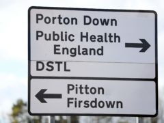 A sign for Porton Down (Andrew Matthews/PA)