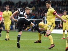 Gavin Reilly in action for St Mirren against Livingston (Ian Rutherford/PA)