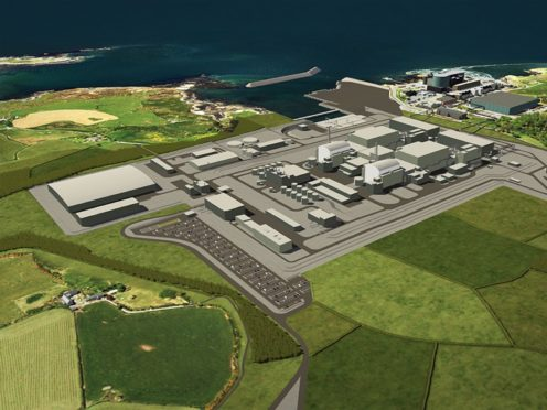 Undated Horizon handout image of an artist's impression of a planned nuclear power station at Wylfa on Anglesey in north Wales (Horizon/PA)