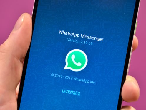 New Year's Eve 2020 was the busiest day ever for voice and video calls on WhatsApp (Nick Ansell/PA)