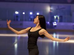 Undated handout photo issued by Strictly Press of figure skater Yebin Mok rehearsing for The Creative Spirit of John Curry, a new show which is part of an international dance festival dedicating the whole of its eight-day programme to the Olympic ice-skating champion, who would have been 70 this year.