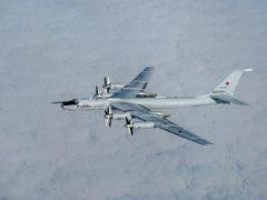 "A Russian ""Bear"" bomber (SAC Samantha Holden/RAF/PA)"