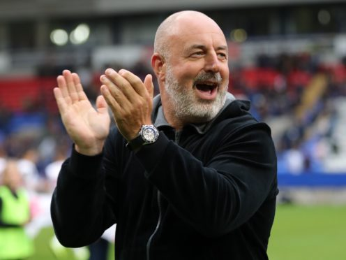 Keith Hill dedicated Tranmere's win to his mother on her 70th birthday (Richard Sellers/PA)