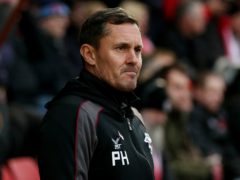 Paul Hurst's side lost to Scunthorpe (Jonathan Brady/PA)